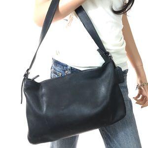 COACH Vintage Black Leather Shoulder Bag #9407